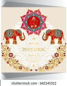 Ganesha Invitation Images Stock Photos Vectors Shutterstock