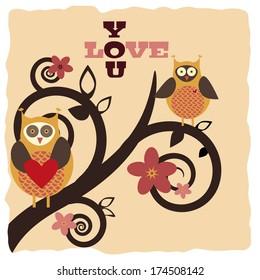 Invitation card for valentine's day
