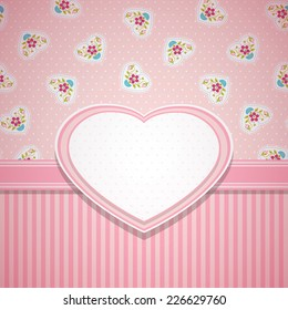 Invitation, card for Valentine's Day or card about love.