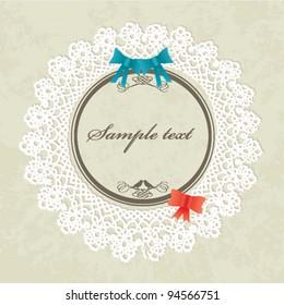 Invitation card / Valentines card - vintage design, vector