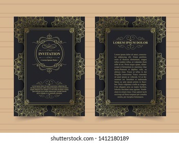 Invitation card vector design - vintage style