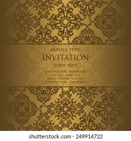 pattern vector png and invitation card with vintage background