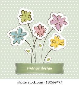 Invitation card. Vintage label for design.