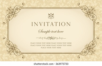 Royalty Free Invitation Card Design Stock Images Photos