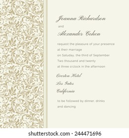 Invitation card. Wedding invitation