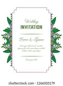 invitation card for wedding floral design vector illustration