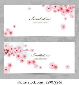invitation cards with a blossom sakura for your design