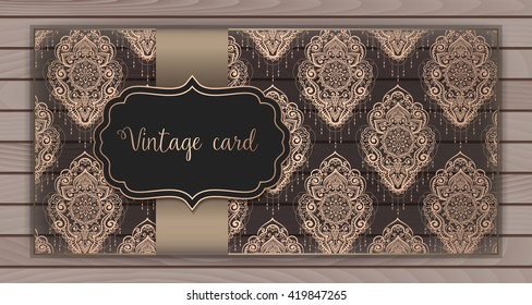 vintage invitation card stock vector royalty free 332667902