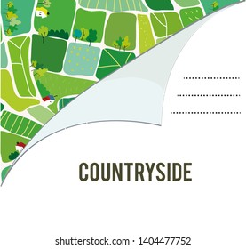 Invitation for the countryside summer camp - vector graphic illustration