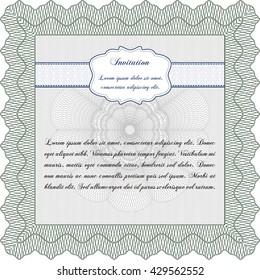 Invitation. Detailed. Complex design. Printer friendly.