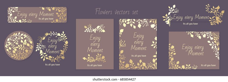 Gala invitation stock vectors images vector art shutterstock invitation gala pattern gold flowers vectors set card background design celebration wedding stopboris Images