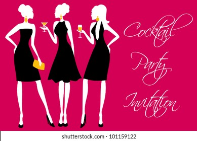 Invitation for a girls' cocktail party.
