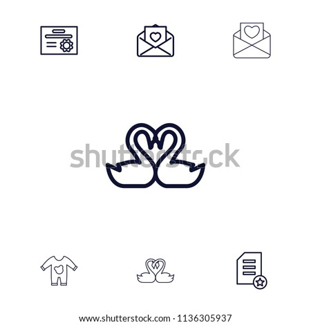 Invitation Icon Collection 7 Invitation Outline Stock Vector