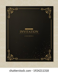 Invitation illustration collection of various patterns