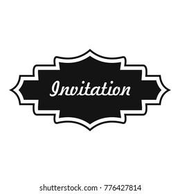 American rodeo vector template logo icon stock photo photo vector invitation label icon simple illustration of invitation label vector icon for web stopboris Images