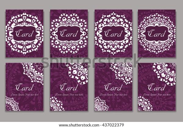 Invitation Mandala Design Template Graphic Card Stock Vector