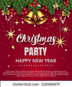 jingle bells winter gold vector bell stock vector royalty free