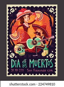 Invitation poster to the Day of the dead party