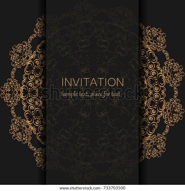Invitation Template Modern Design Wedding Invitation Stock Vector ...