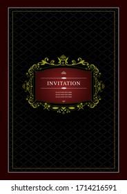 Invitation vintage card. Wedding or Valentine`s Day. Vector illustration