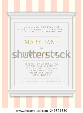 invitation wedding announcements vector vintage frame stock vector