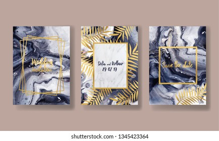 invitation to the wedding, a great celebration of lovers, the bride and groom.background texture luxury liquid marble and gold. for business cards, flyers, flyer, banner, website, paper printing.