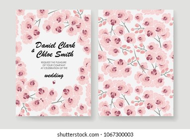 vintage flower background corporate identity template stock vector