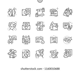 Invitation Well-crafted Pixel Perfect Vector Thin Line Icons 30 2x Grid for Web Graphics and Apps. Simple Minimal Pictogram