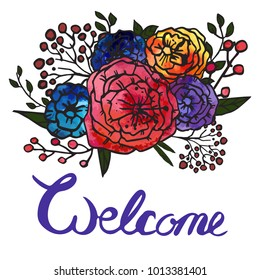Invite watercolor vector