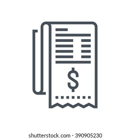 Invoice, bill icon suitable for info graphics, websites and print media and  interfaces. Line vector icon.