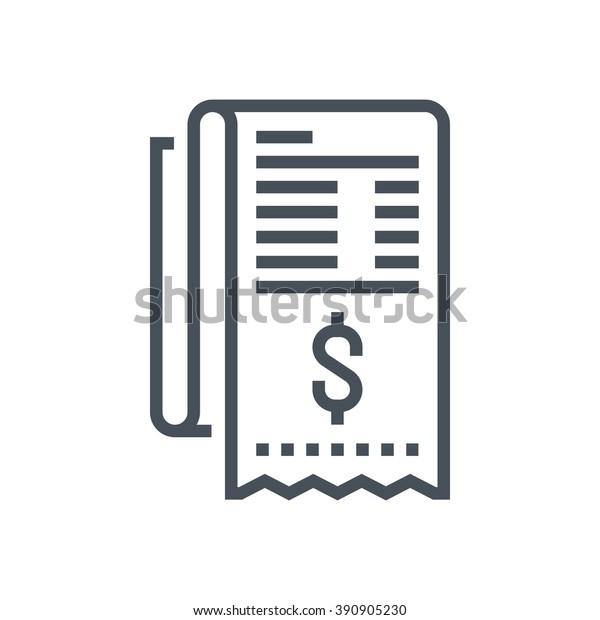 Rechnung, Rechnungssymbol geeignet für Infografiken, Websites, Printmedien und Schnittstellen. Line-Vektorsymbol.