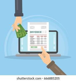 Invoice concept illustration.