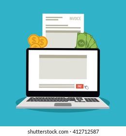 Invoice design. business icon. finance concept