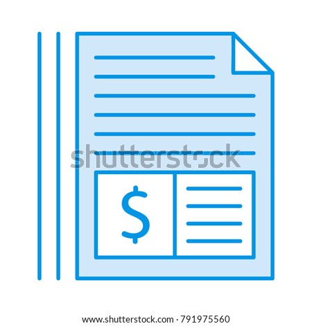 Invoice Document Pages Stock Vector (Royalty Free) 791975560