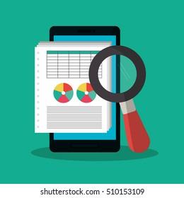 Invoice document and smartphone design