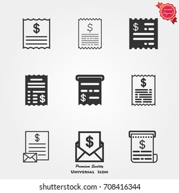 Invoice icons vector
