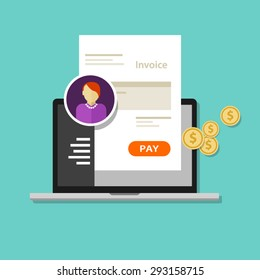 invoice invoicing online service pay click laptop