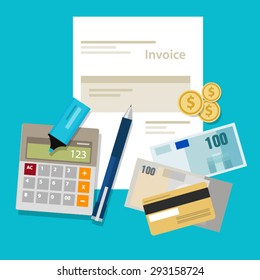 invoice invoicing payment money calculator