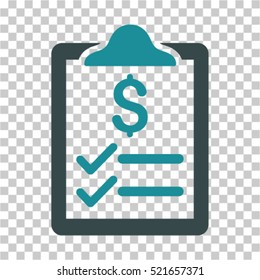 Invoice Pad icon. Vector pictograph style is a flat symbol, color, chess transparent background. Designed for software and web interface toolbars and menus.