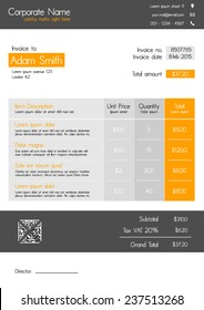invoice template images stock photos vectors shutterstock