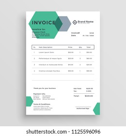 modern invoice template wavy style stock vector royalty free