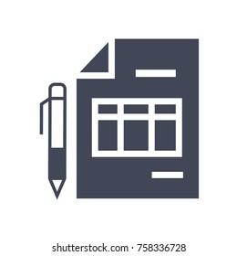invoice vector icon