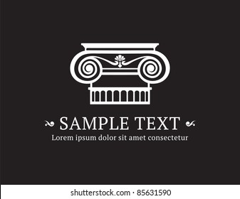 Ionic column vector with sample text