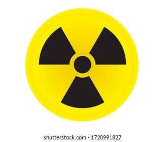 Ionizing radiation symbol attention hazard warning sign. Radioactive sign vector.