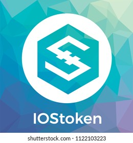 IOStoken (IOST) vector logo. Decentralized Internet of Services. A Secure Scalable Blockchain for Smart Services and blockchain crypto currency