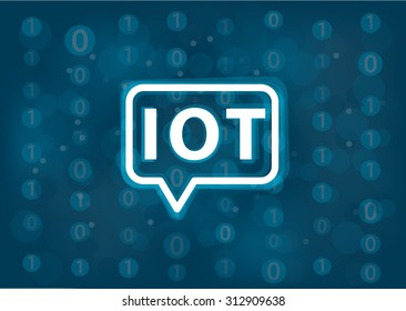 IOT vector background. Internet of things concept with logo and binary background.