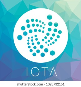 IOTA decentralized blockchain Internet-of-things payments cryptocurrency vector logo.