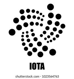 Iota icon. Simple illustration of iota vector icon for web