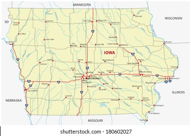 Iowa Map Images, Stock Photos & Vectors | Shutterstock