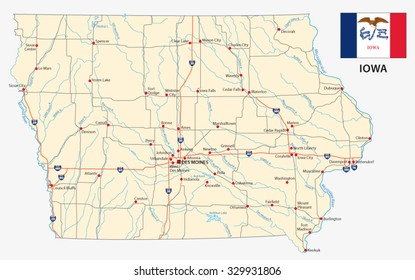 map Of Iowa Stock Images RoyaltyFree Images Vectors Shutterstock